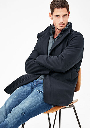 Padded wool coat with an insert from s.Oliver