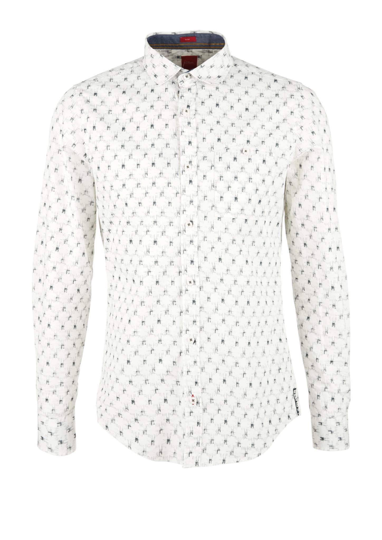 Freizeithemd | Bekleidung > Hemden > Freizeithemden | Weiß | 100% baumwolle | s.Oliver