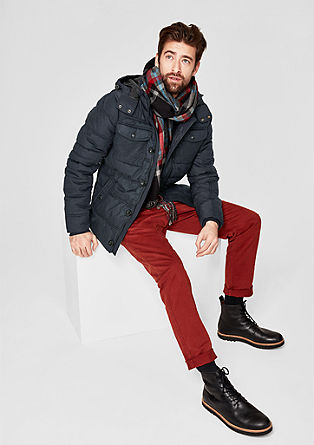 Warm quilted jacket in a mix of materials from s.Oliver