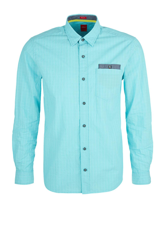 s.Oliver - Regular: Hemd mit Gitterkaros - 4