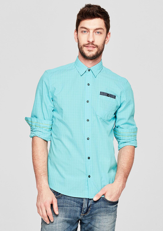 s.Oliver - Regular: Hemd mit Gitterkaros - 1