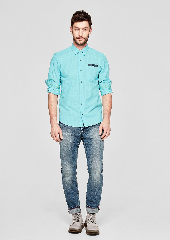s.Oliver - Regular: Hemd mit Gitterkaros - 2
