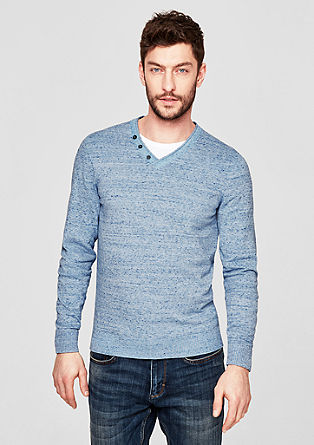 Cotton jumper with a layered effect from s.Oliver