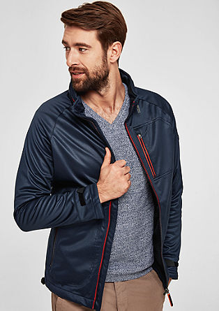 Softshell jacket with neon zips from s.Oliver