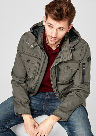 Field-style twill parka from s.Oliver
