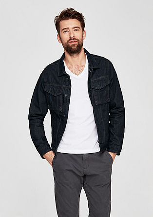 Denim jacket with flap pockets from s.Oliver