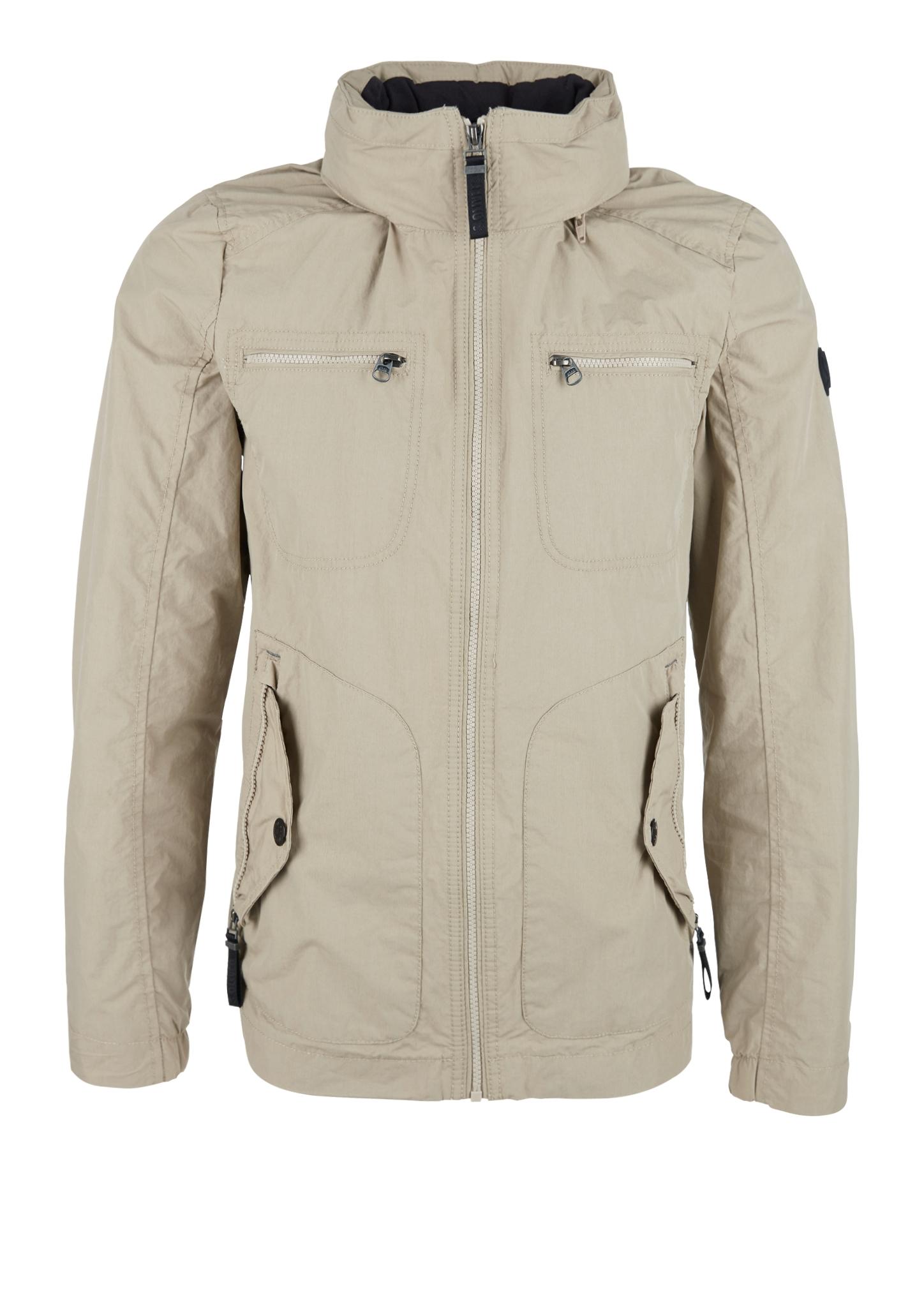 Outdoor-Jacke | Sportbekleidung | Braun | Obermaterial 60% baumwolle -  40% polyamid| futter 100% polyester| kragen 100% baumwolle | s.Oliver