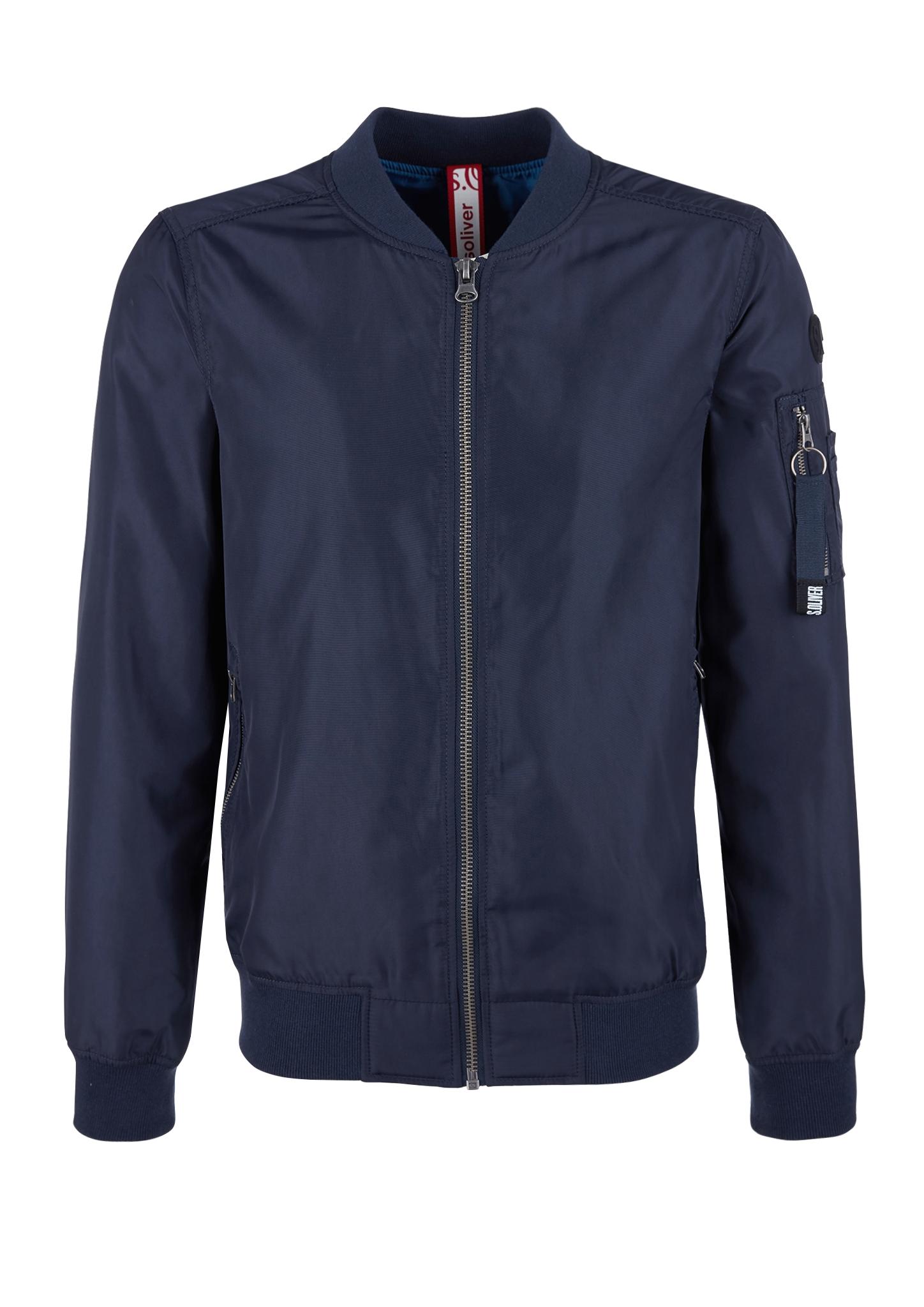Bomberjacke | Bekleidung > Jacken > Bomberjacken | Blau | Obermaterial 100% polyamid| kragen 65% baumwolle -  35% polyester| futter 100% polyester | s.Oliver