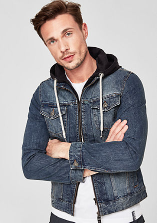 Jeansjacke im 2-in-1-Look