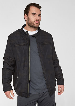 Lightweight jacket with topstitched details from s.Oliver
