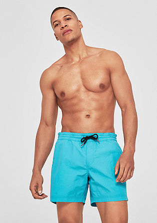 Swim shorts with contrast ties from s.Oliver