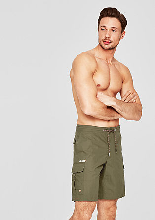 Swim shorts with flap pockets from s.Oliver