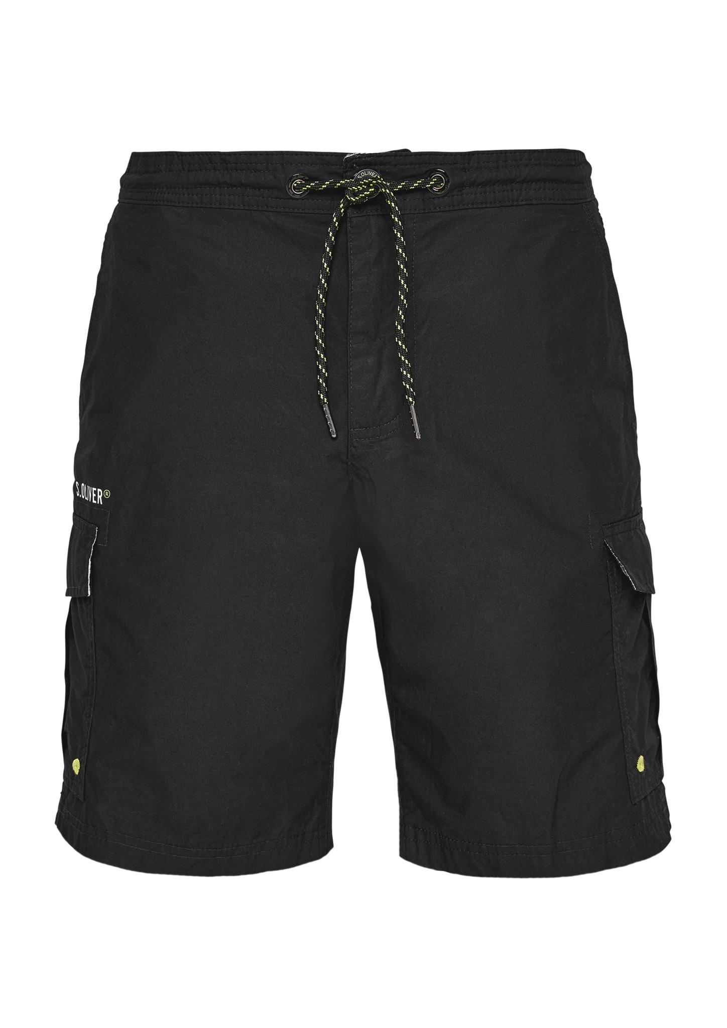 Badeshorts | Bekleidung > Bademode > Badeshorts | Grau/schwarz | Obermaterial 100% baumwolle| futter 100% polyester | s.Oliver