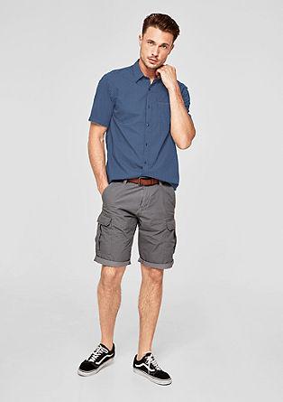 Regular: geweven overhemd met korte mouwen