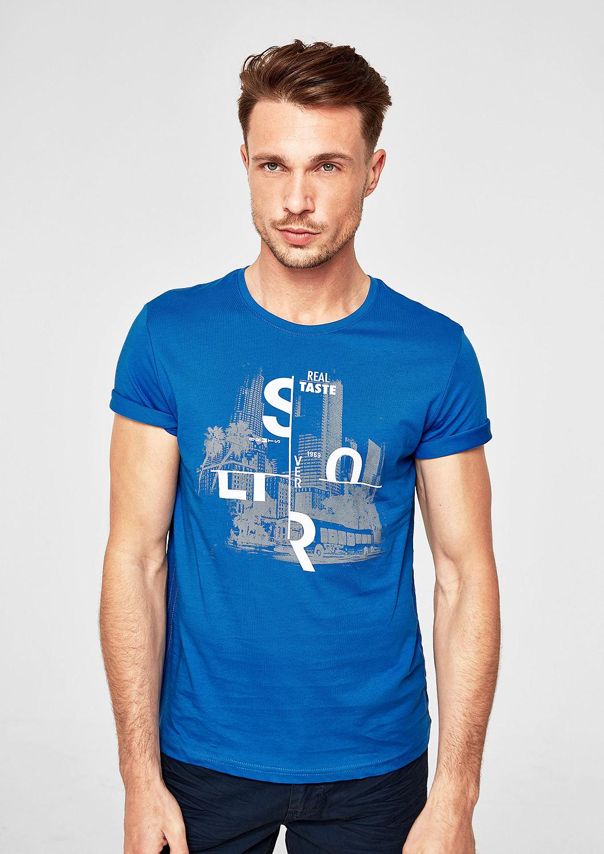 s.Oliver - T-Shirt mit Print-Collage - 1