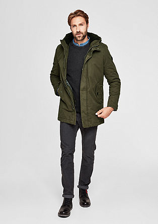 Warmly padded parka with a hood from s.Oliver