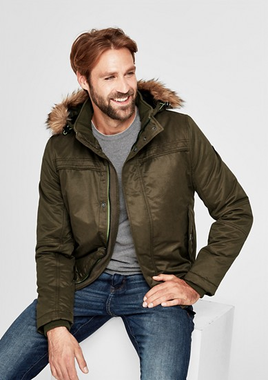 Bomber jacket with faux fur from s.Oliver