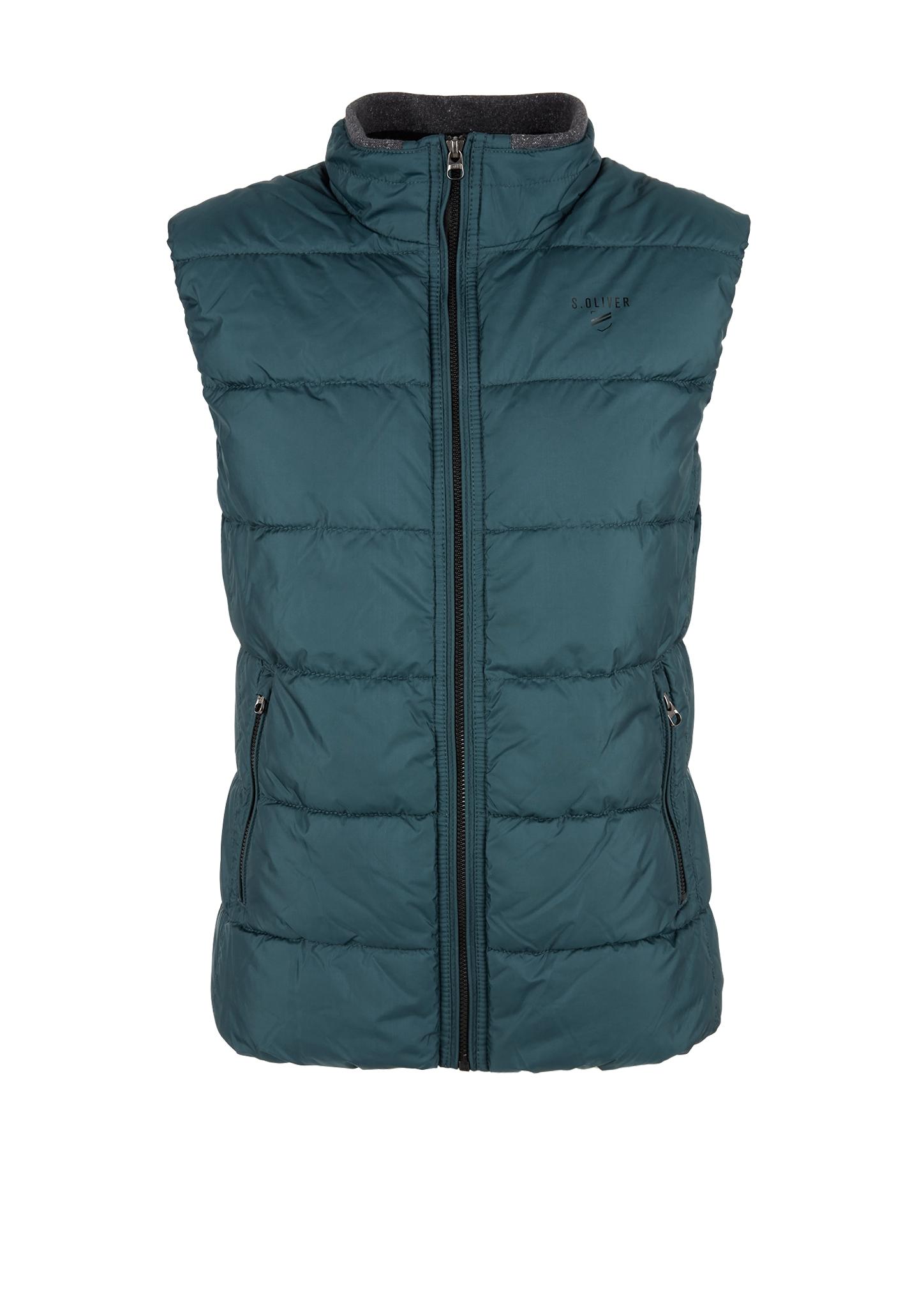 Outdoorweste | Sportbekleidung | Blau/grün | Obermaterial 100% polyester| futter und füllmaterial 100% polyamid| kragenfutter 95% baumwolle -  5% elasthan | s.Oliver