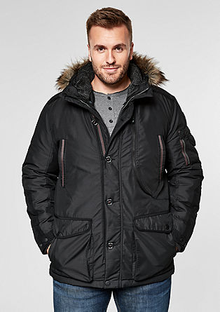 Winterparka van coated canvas