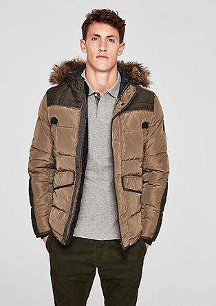 Outdoor jacket with faux fur from s.Oliver