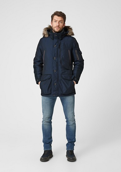 Sportiver Parka im Fabric Mix