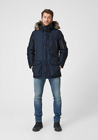 Sporty parka in a material blend from s.Oliver
