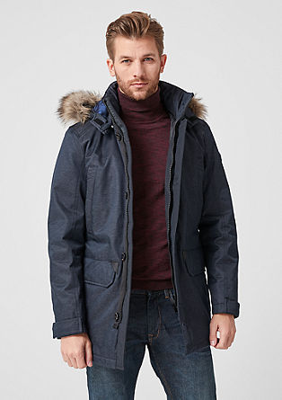 Warm long parka with padding from s.Oliver