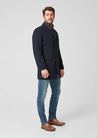 Herringbone wool coat with padding from s.Oliver