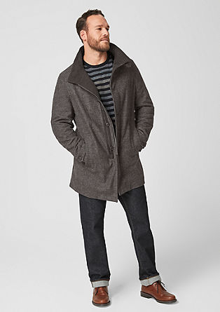 Padded short coat with texture from s.Oliver