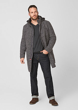 Padded short coat with a hood from s.Oliver