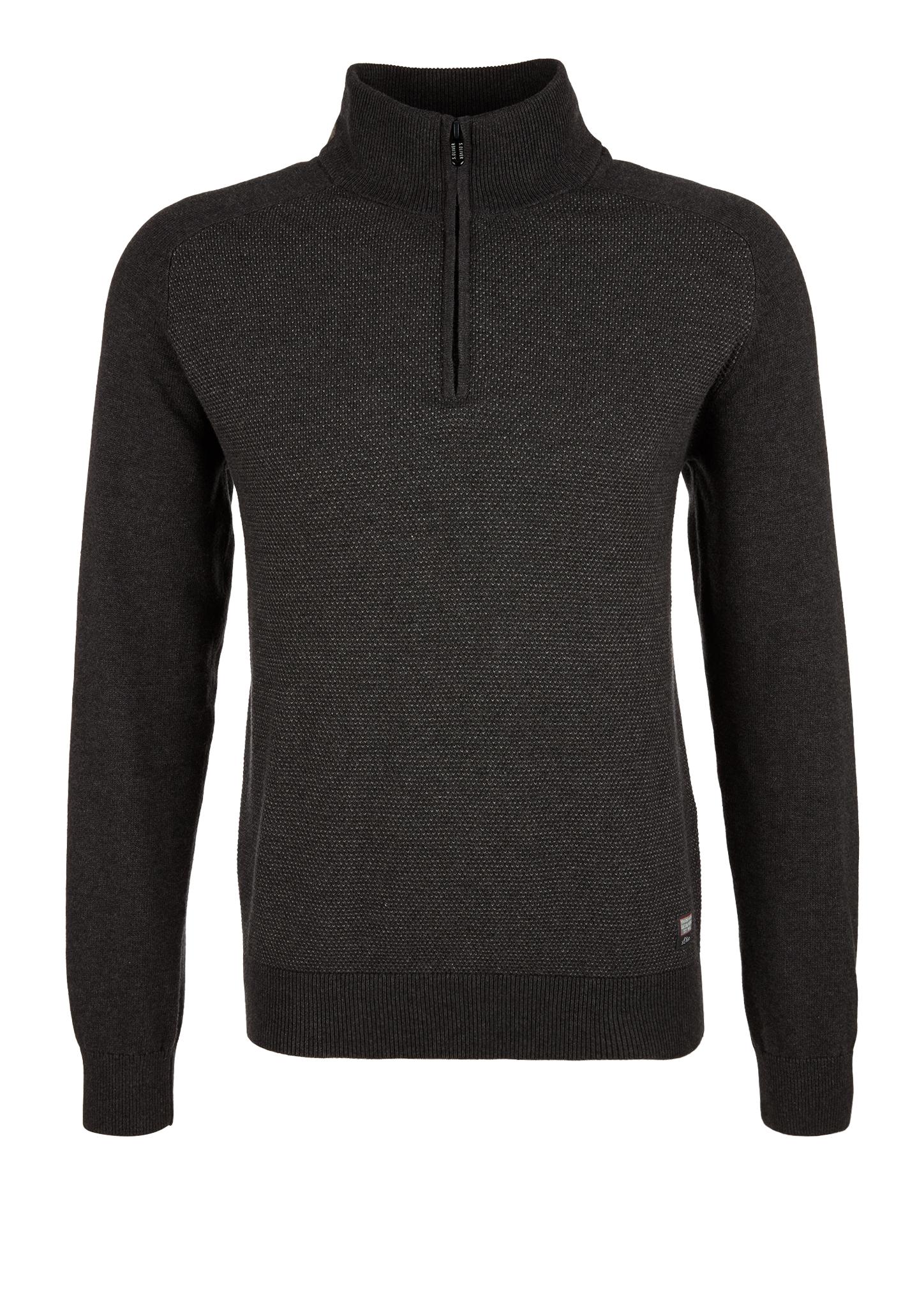 Strickpullover   Bekleidung > Pullover   Grau/schwarz   100% baumwolle   s.Oliver