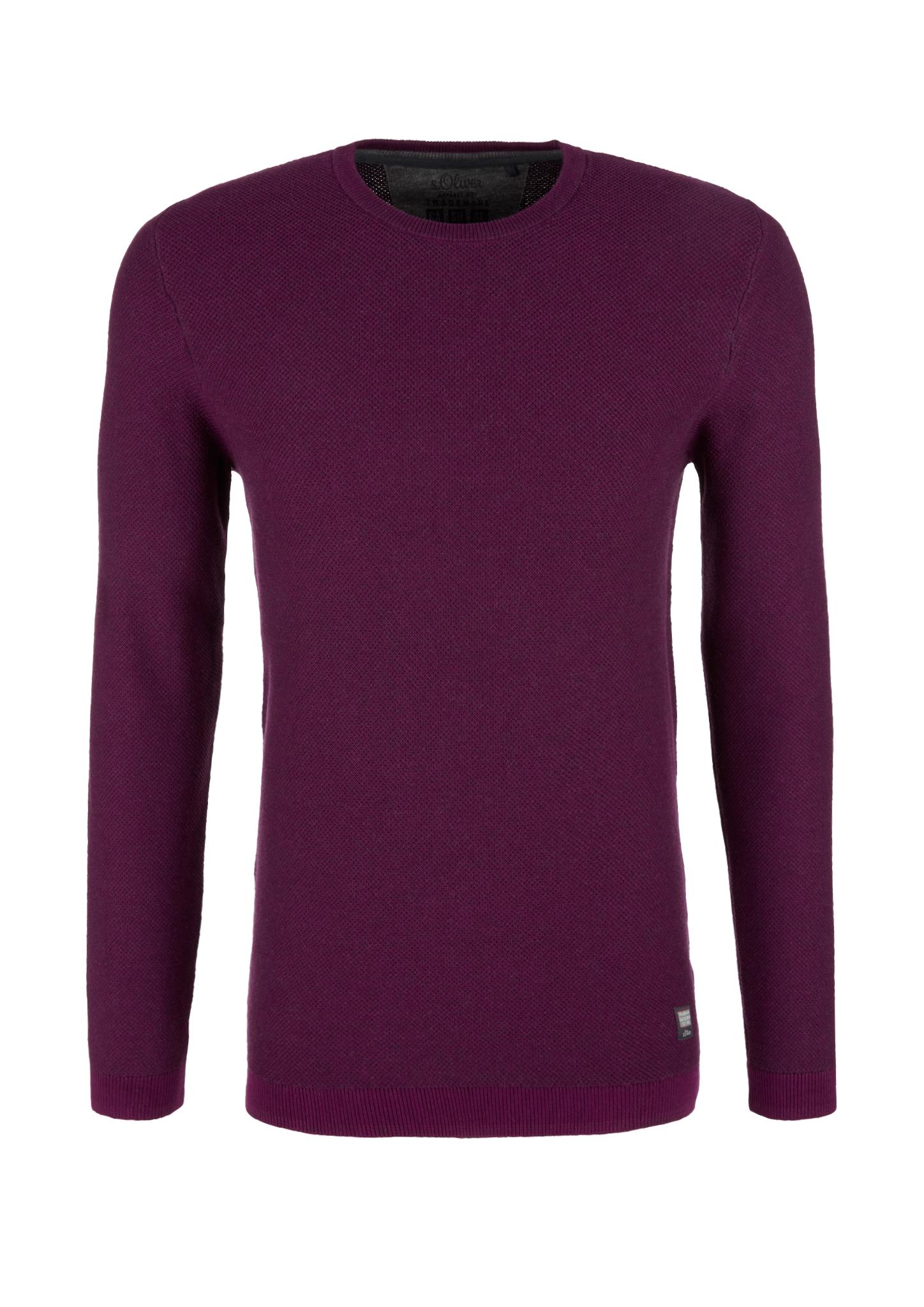 Strickpullover | Bekleidung > Pullover > Sonstige Pullover | Lila | 100% baumwolle | s.Oliver
