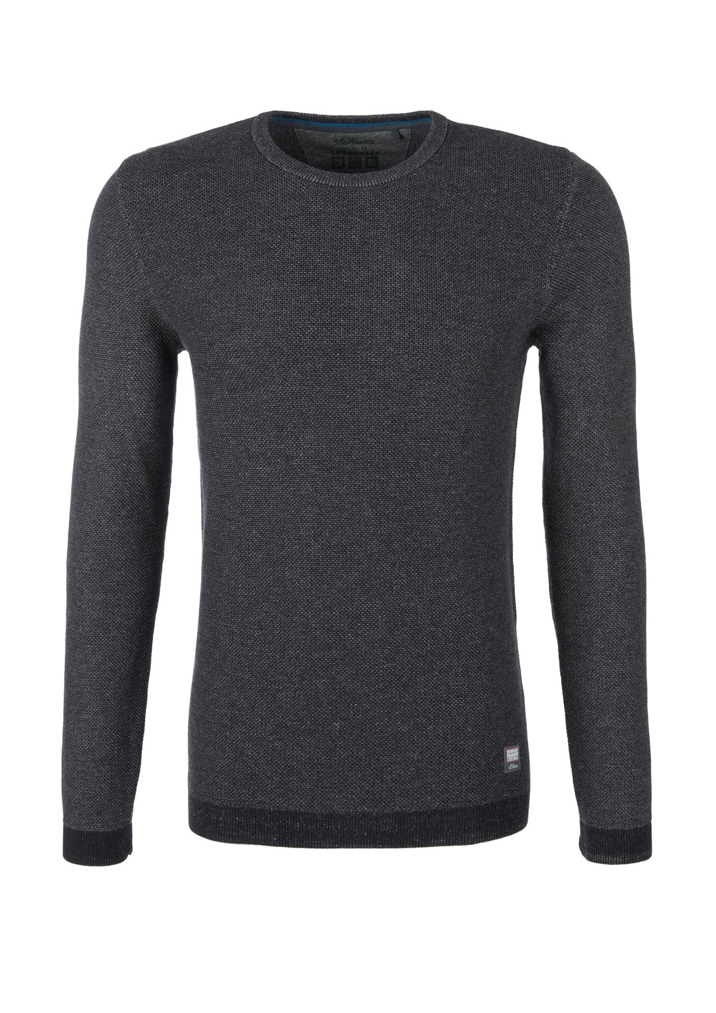 Strickpullover | Bekleidung > Pullover > Sonstige Pullover | Schwarz | 100% baumwolle | s.Oliver