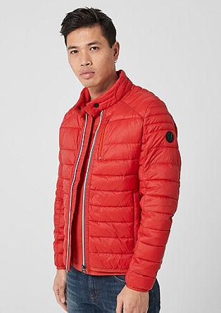Gewatteerde jas met contrasterende rits