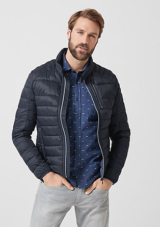 Quilted jacket with a contrasting zip from s.Oliver