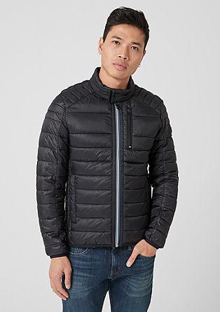 Prešita jakna s kontrastno zadrgo