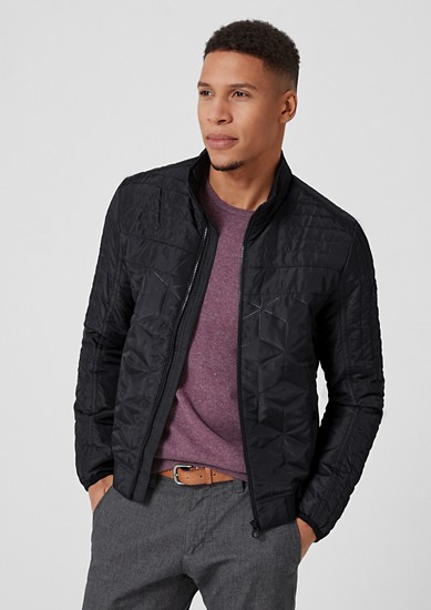 Lightweight, quilted bomber jacket with a stand-up collar from s.Oliver