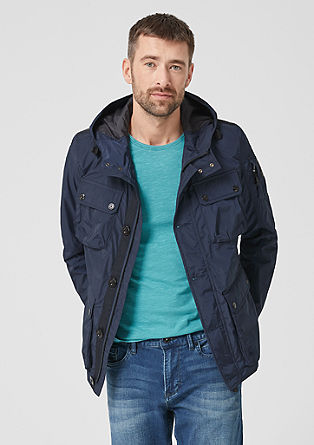 Outdoor jacket with a hood from s.Oliver