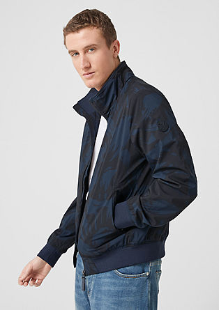 Outdoor jacket with rib knit trims from s.Oliver