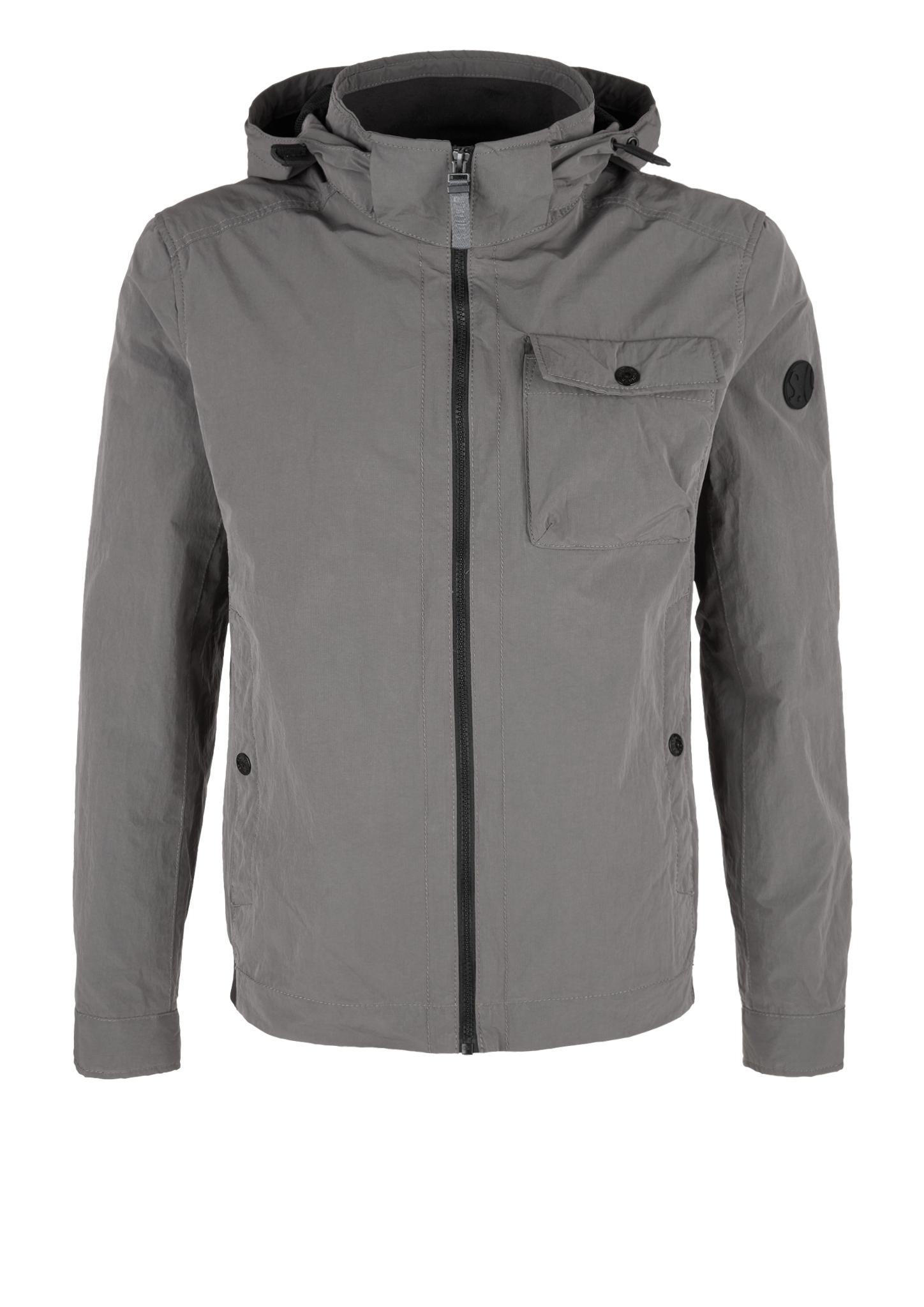 Outdoor-Jacke   Bekleidung > Jacken > Sonstige Jacken   Grau/schwarz   Oberstoff: 58% polyamid -  42% polyester  futter: 100% polyester  kragen: 55% baumwolle -  45% polyester   s.Oliver