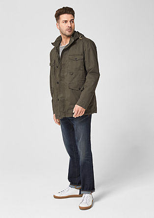 Twill jacket with flap pockets from s.Oliver