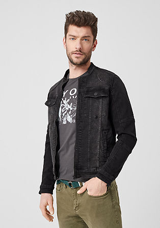 Denim jacket with a zip from s.Oliver