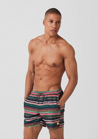 Swim shorts with a printed pattern from s.Oliver