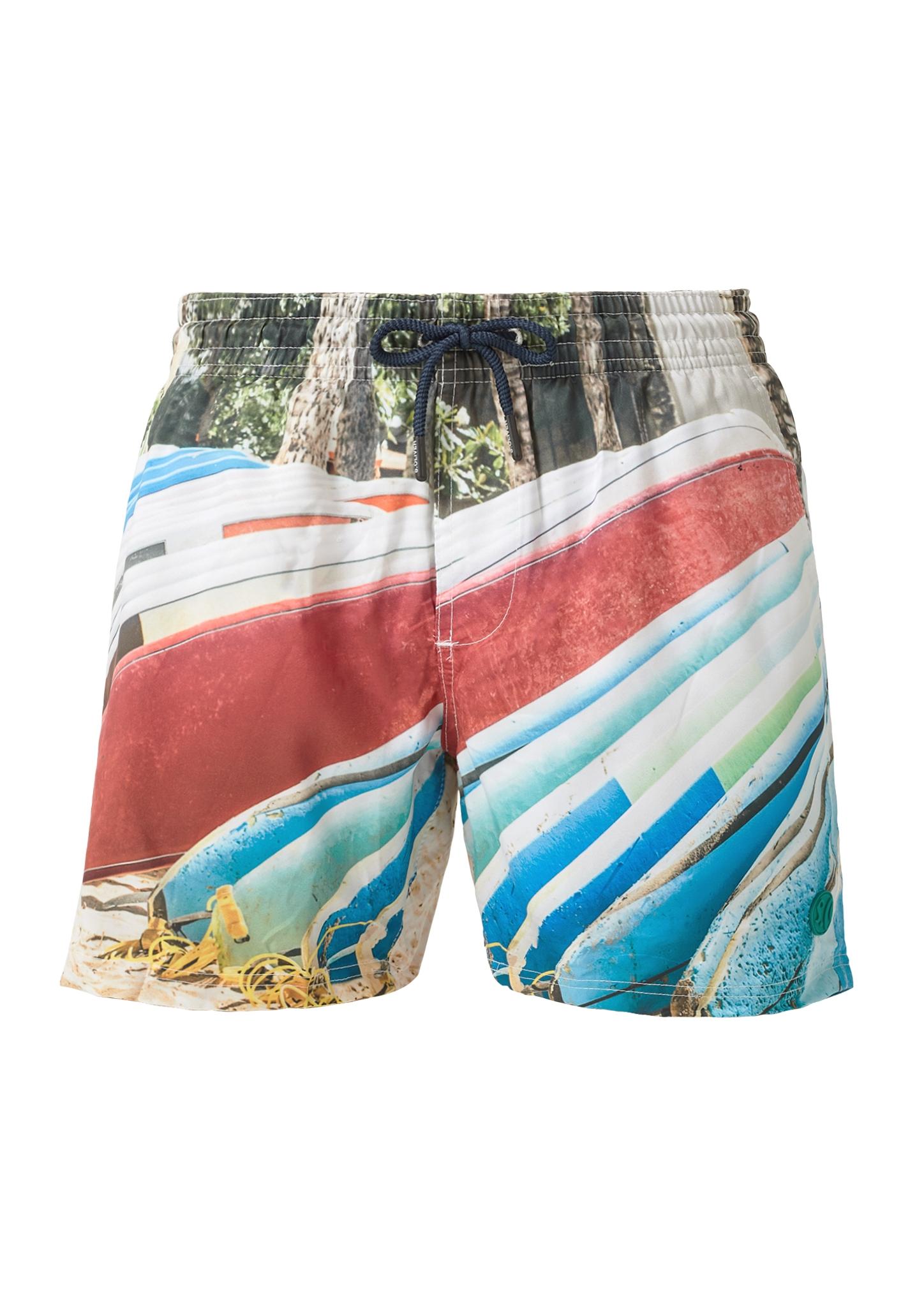 Badehose | Bekleidung > Bademode > Badehosen | Weiß | Oberstoff: 100% polyester| futter: 100% polyester | s.Oliver