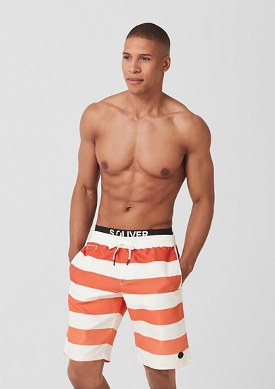 Casual swim shorts with layered effect from s.Oliver
