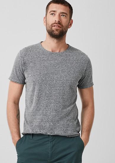 majica kratek rokav z učinkom melanž