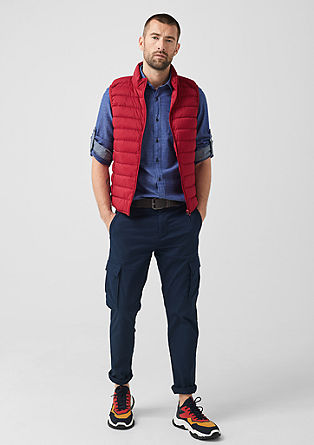 Quilted body warmer with down from s.Oliver