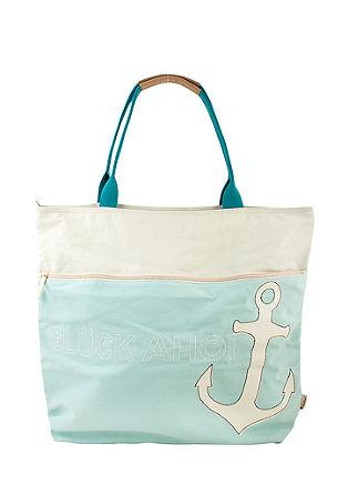 Strandtasche 'Glück Ahoi'