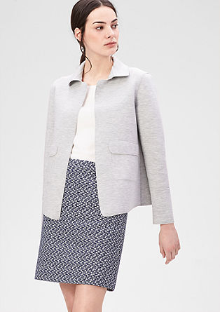 Boxy blazer with a Peter Pan collar from s.Oliver