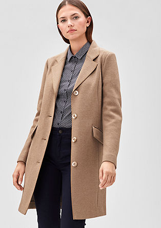 Piped coat in blended wool from s.Oliver